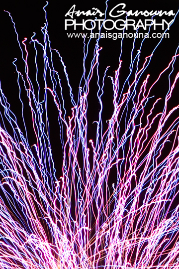 anais ganouna - fireworks purple