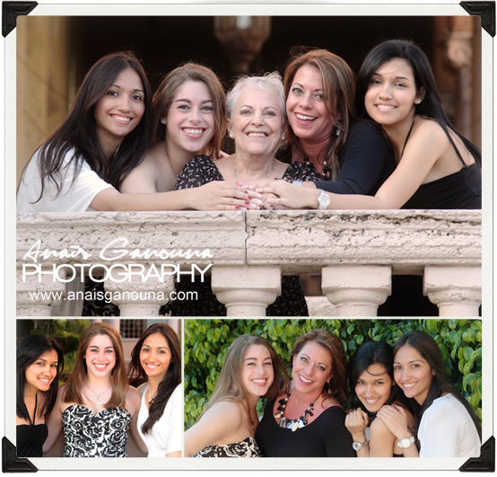 3 Generation Family Portrait at Biltmore Hotel l Miami Family Photographer